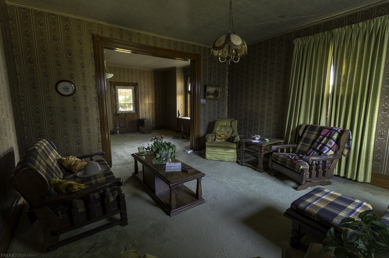 Inside A Haunted House Living Room